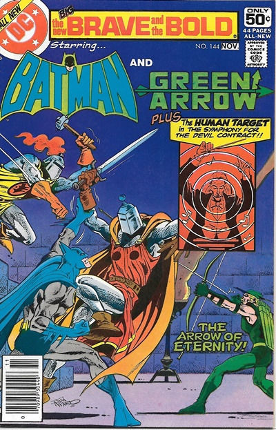 Primary image for Brave and the Bold Comic Book #144 DC Batman and Green Arrow 1978 NEAR MINT