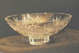 Crystal Floral Serving Bowl Heavy Beautiful Large AA19-LD11935 Vintage image 3