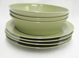 Vintage Genuine Melamine Lot Olive Green 3 Bowl... - $15.83