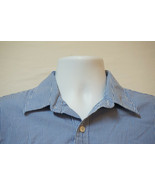 J. Crew Midweight Button-Front Shirt, Blue, Excellent, Men's Large 1025 - $11.24