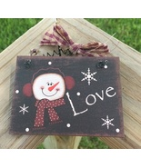 5780L - Love Snowman Sign  - $2.50