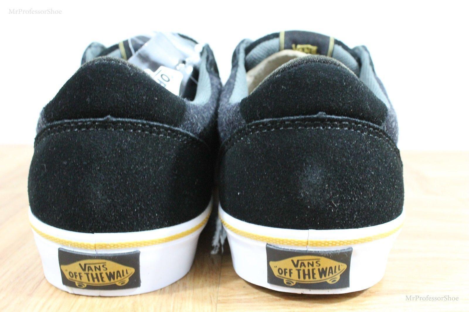 Vans Lindero (Wool) Black/Gold Skate Shoes MEN'S 7.5 WOMEN'S 9 image 5