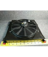"""High Pressure Steel Hydraulic Oil Cooler w/Fan 3/4"""" 400 PSI 4 to 36 gpm 12VDC #7 - $509.55"""