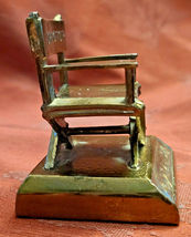 """Vintage Director's Chair Paperweight 2""""  Plaque removed Bottom Front image 3"""
