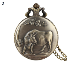 Antique Animal Watch Necklace Pendant Bronze Chinese Zodiac Commemorative 2 - $12.90