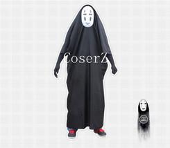 Hayao Miyazaki Away No Face man Mask and Dress Anime Cosplay Costume - $69.00
