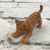 K&M Miniature Tiger Cub Figure Wild Cat Orange Striped Posed Pouncing An... - $9.89