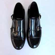 Brioni schwarz NEU Schnalle US Mönch 10 j 3060252 Größe Schuhe Doppel Anzug qgZfR1R