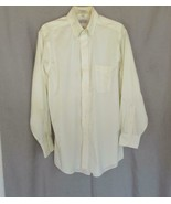 Eagle Shirtmakers men's shirt  pin-point 15-1/2  32/33 button down ivory... - $12.69