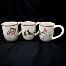 American Atelier CHRISTMAS TWIGS 3 Mugs - $24.88