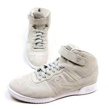 Fila Womens 9 High Top Sneakers Shoes Beige Gray 5VF80169-063 Suede Lace Up - $25.84