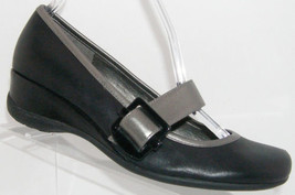 Kenneth Cole Reaction 'Very Mary' black leather mary jane mid wedges 7.5M - $29.41