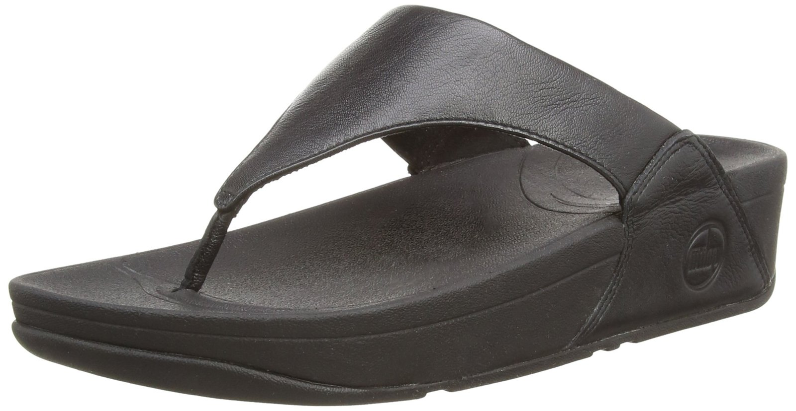 FitFlop Women's Lulu Thong Sandal,Black,8 M US