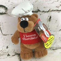 I Love Chocolate Talking Teddy Bear Plush In Apron And Chefs Hat My Favorite Co - $14.84