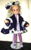 Vintage Ideal Velvet Crissy Pull hair Doll Knob Custom Dress - $48.99