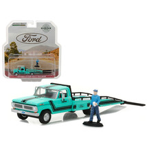 1970 Ford F-350 Ramp Truck with Truck Driver Figure Hobby Exclusive 1/64... - $28.65