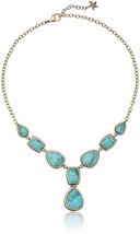 Barse Bronze and Genuine Turuqoise Y-Shaped Necklace - $290.22