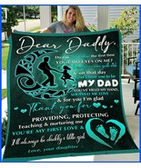 Dear Daddy From Daughter Dancing In The Moon Blanket Dad Gift Sofa Bed B... - $52.62+