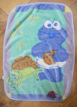 Cookie Monster Thick Plush Baby Blanket Sesame Street Beginnings - $59.42 CAD