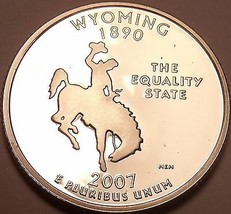 Camée Preuve 2007-S Wyoming État Quarts ~ Nous Avoir Chaque - $5.57