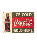 Coca-Cola Ice Cold Logo Magnet Red - $8.98