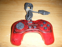 Clear Red Performance GamePad Colors P-107G Playstation Game Controller - $13.85