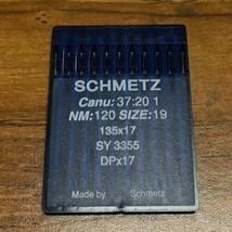 SCHMETZ DBx17 CANU:37:20 1 NM:120 SIZE19 INDUSTRIAL SEWING MACHINE NEEDLE - $13.64