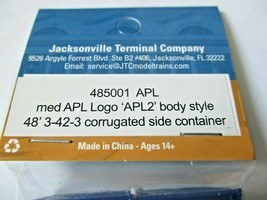 Jacksonville Terminal Company # 485001 APL med APL Logo 48' 3-42-3 Container (N) image 2