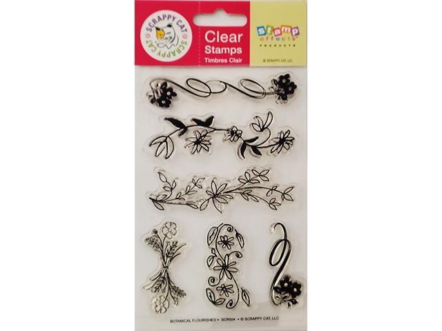 Scrappy Ca Botanical Flourishes Clear Stamp Set #SCR504