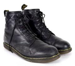 Dr Martens Black Leather Ankle Boots Lace Up Moto Punk Grunge Mens Size ... - $44.54