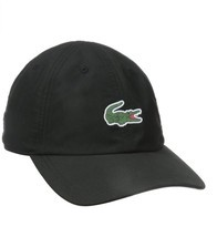 LACOSTE MEN'S SPORTS POLYESTER CAP HAT CLASSIC SMALL CROG RUBBER LOGO - $702,56 MXN