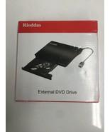 Rioddas External CD Drive USB 3.0 Portable CD/DVD +/-RW Drive Slim DVD/C... - $14.01