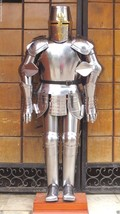 Medieval Wearable Knight Crusader Full Suit Of Armor Collectible Costume - $699.00
