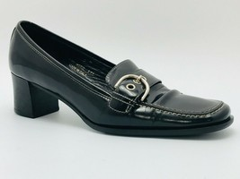Coach Women's Ingrid Moc Pumps Black Leather Size 7 B - $39.59