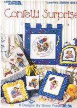 Confetti Surprise Leisure Arts Leaflet 2294 Counted Cross Stitch Chart Book - $5.99