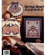 Spring Heart Garden 4 Designs Roses Jeremiah Junction Cross Stitch Pattern - $2.67