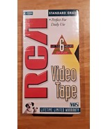 New RCA T-120H Standard Grade Blank 6 hour VHS Cassette Recordable VCR Tape - $5.44
