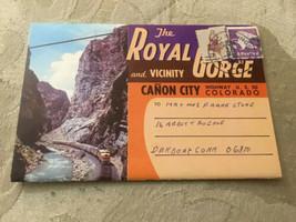 Vintage Postcard Folder Posted The Royal Gorge Canon City CO Colorado - $2.61