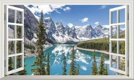 Banff National Park Moraine Lake Canada 3D Magic Window Wall Art Adhesive Vinyl* - $15.13+