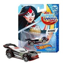 Hot Wheels DC Super Hero Girls Katana Character Cars Mint on Card - $6.88