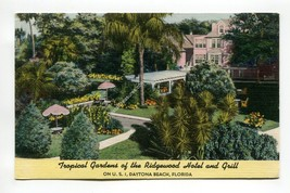 Tropical Gardens of the Ridgewood Hotel and Grill Daytona Beach Florida - $1.99
