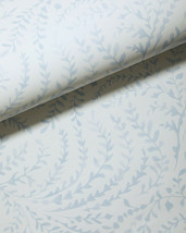 New $128 roll - SERENA & LILY Priano Wallpaper - Sky blue white -vine print - $87.08