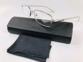 ✴ New Prada VPR 59M 1BC-1O1 Silver & Beige Eyeglasses 52mm with Prada Case - $120.38