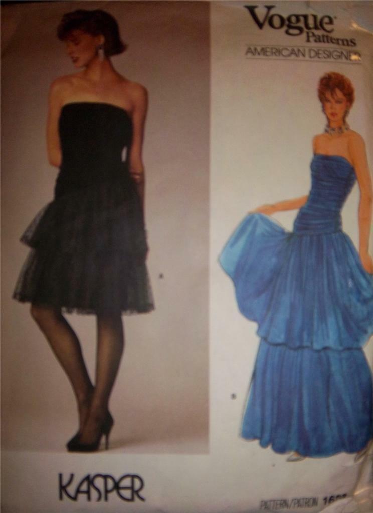 Pattern V1623 Kaspar Strapless Designer Gown