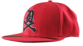 Dissizit Mens Dx Bones English D Red Snapback Baseball Hat Cap Slick Compton NW image 2