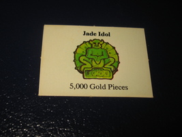 1980 TSR D&D: Dungeon Board Game Piece: Treasure 5th Level Card- Jade Idol - $1.00