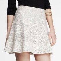 Express Women's Crocheted Lace Fit & Flare Skirt Ivory Size 10 $78 - $24.50