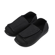 Men's Wide Feet Slippers Orthopedic Adjustable Shoes Wide Fit for Elderl... - $61.53