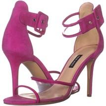 Nine West Mila Heeled Sandals 699, Medium Pink Suede, 8.5 US - $26.87