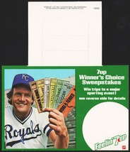 Vintage bottle ringer 7 UP dated 1981 George Brett Royals with tickets n... - $8.99